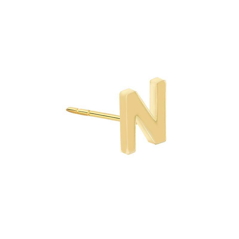 Geelgouden oorknop 'N'