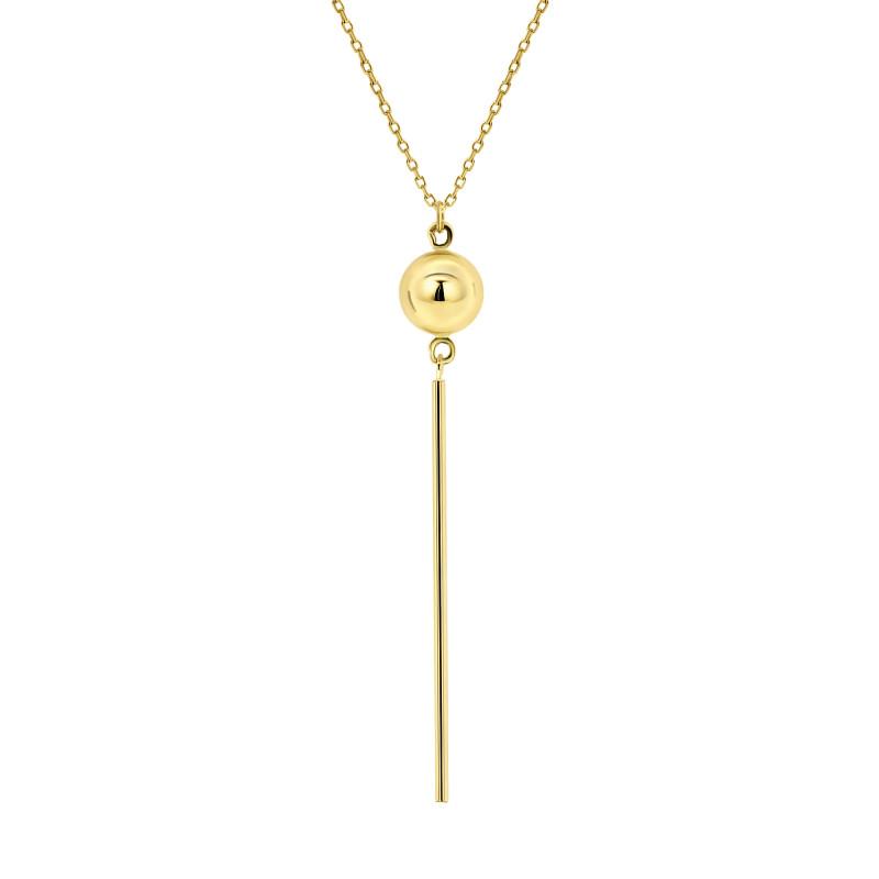 Geelgouden collier met hanger 1168-Y
