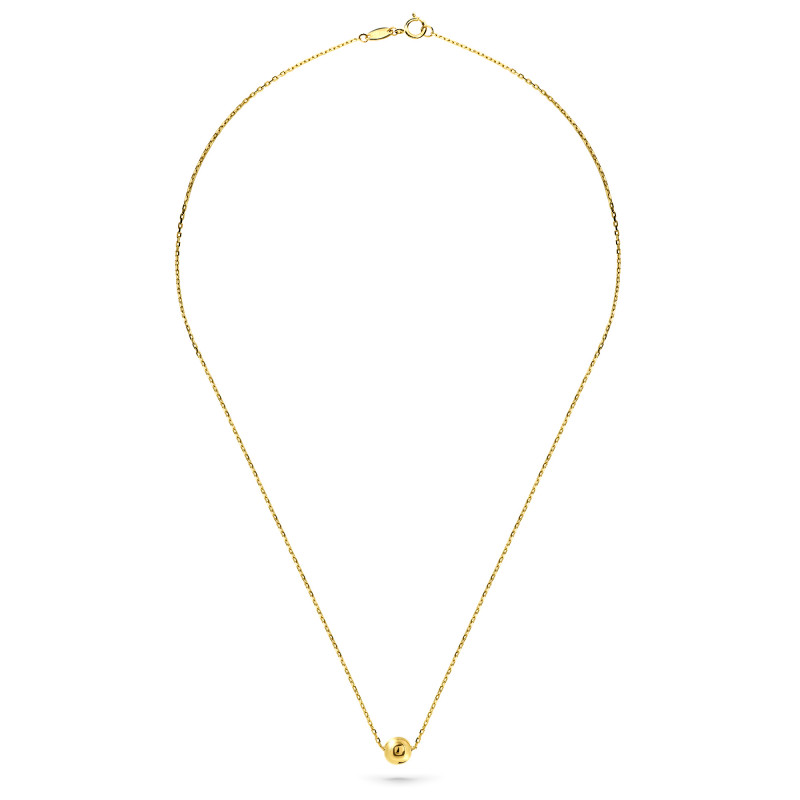 Geelgoud collier CABLE14N-0971-Y