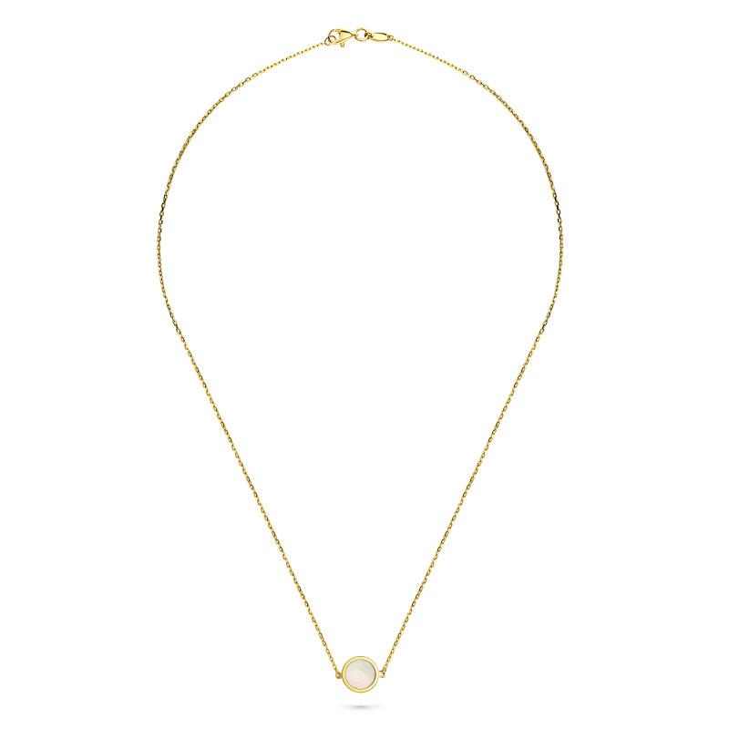 Geelgoud collier FOR6N0359-MOP-Y