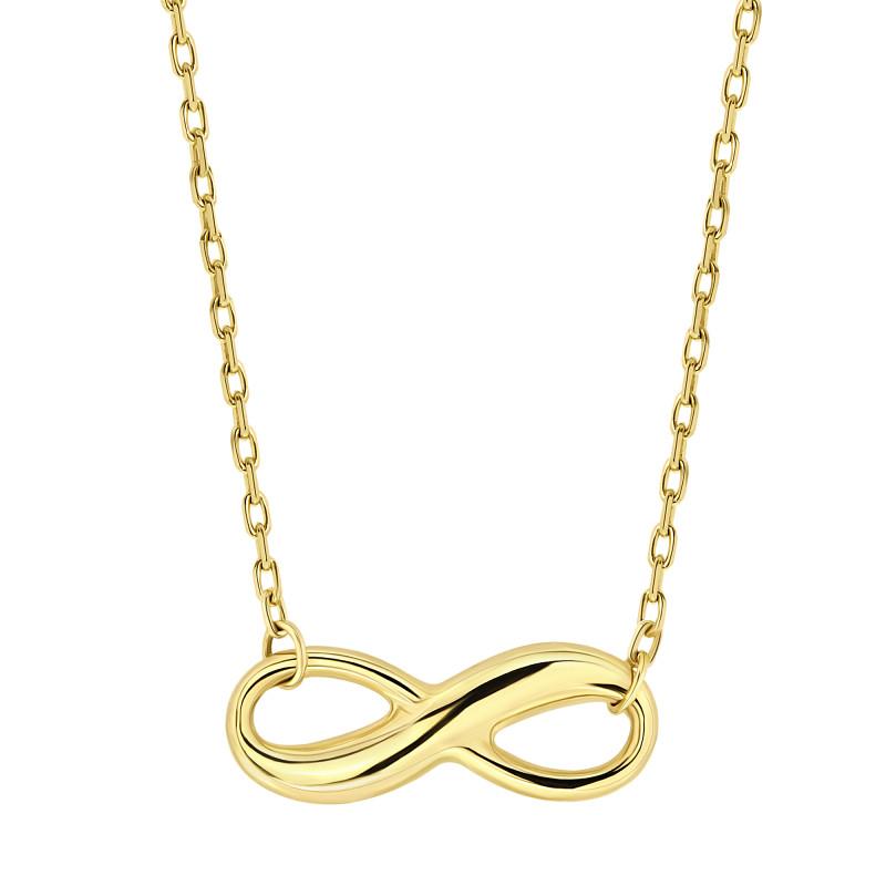 Gouden collier infinity