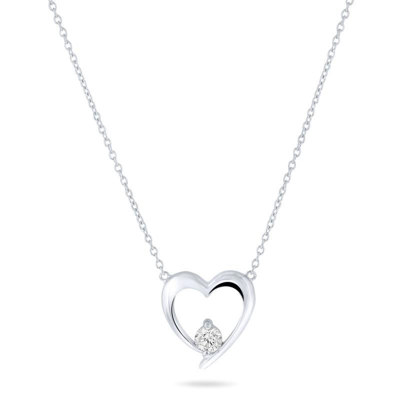 Zilver collier met hart TCS59570-26