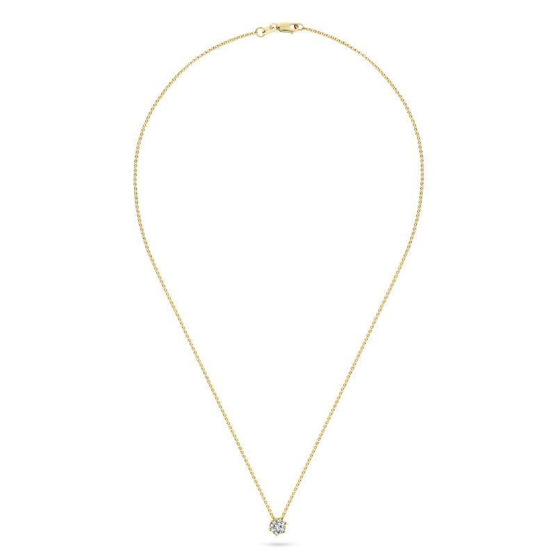 Geelgoud collier met solitair hanger SOL-Y225-010-G2