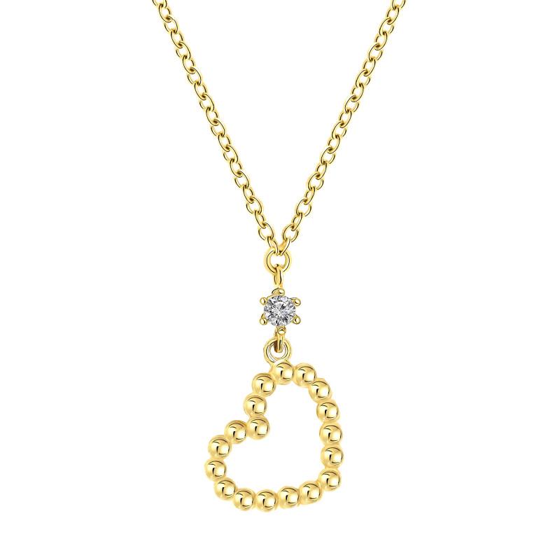 Geelgoud collier met hart 02940457C