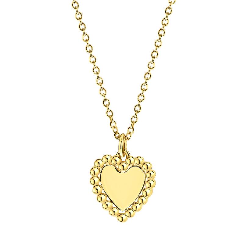 Geelgoud collier met hart 09CA762