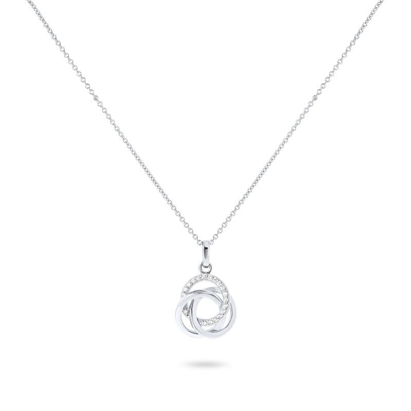 Zilver collier met zirkonia hanger 73-3205-7080