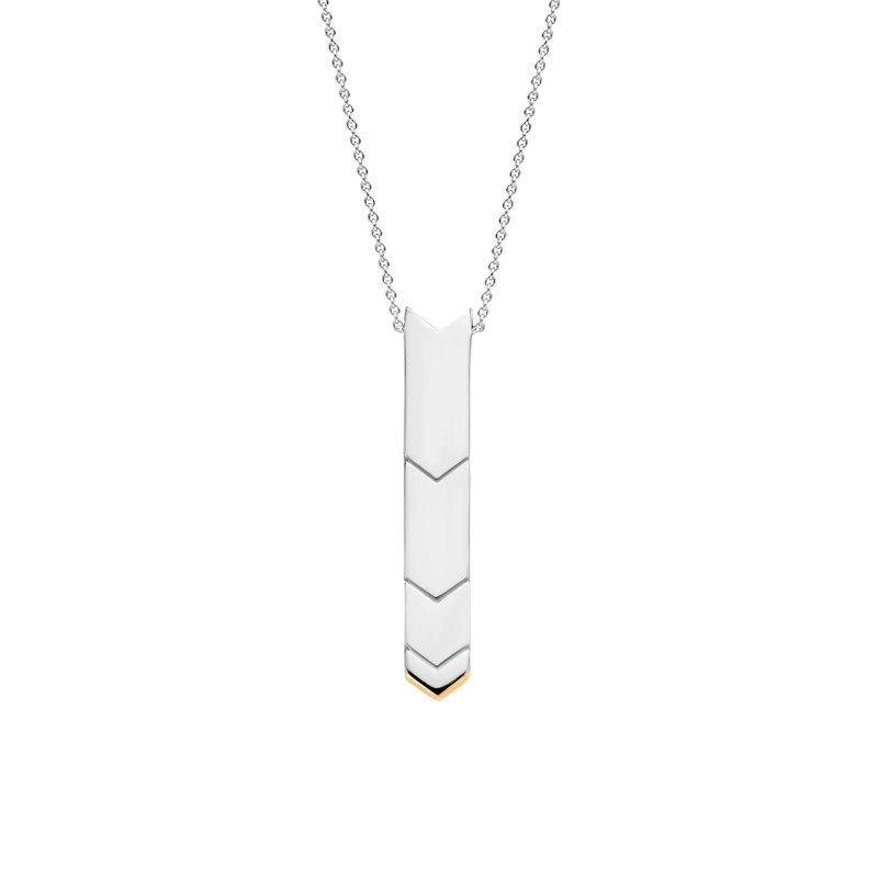 Zilver collier met malachiet 3954MA