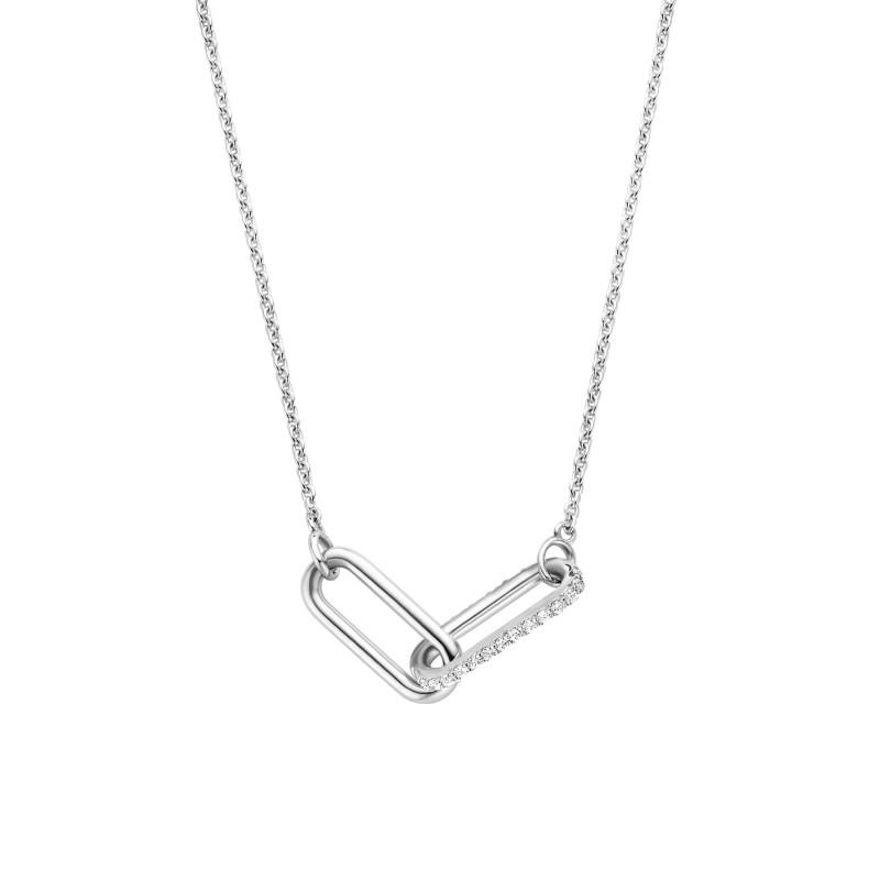 Zilver collier met zirkonia 3966ZI