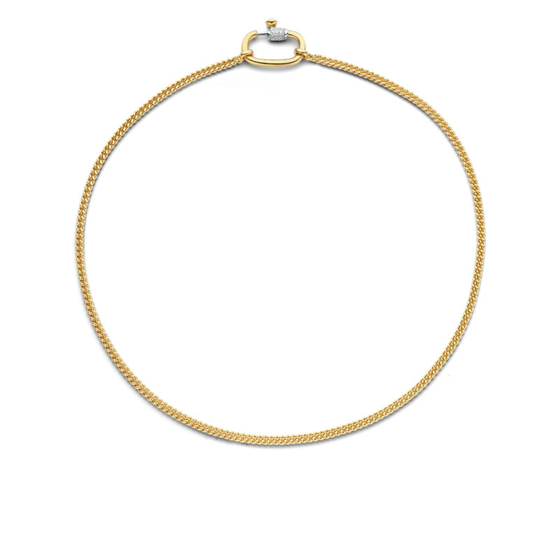 Gold plated collier met zirkonia 3968SY
