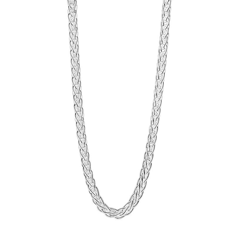 Zilveren vossenstaart collier 102.0077