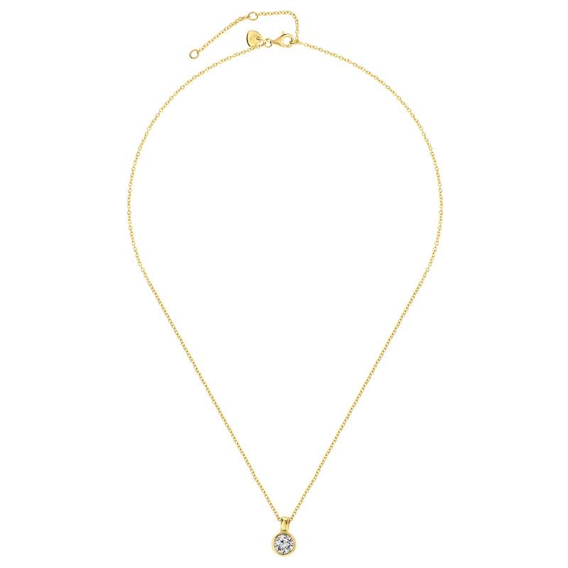 Gold plated collier met zirkonia 09.2182Z.35