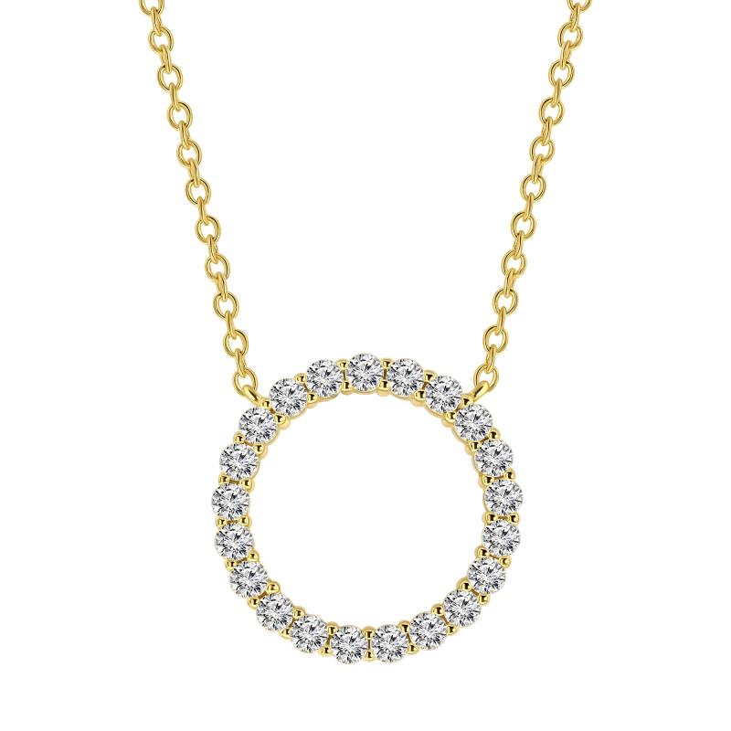 Gold plated collier met zirkonia 09.785Z.35