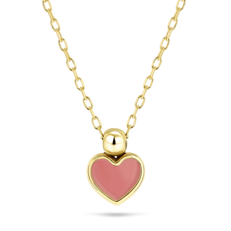Geelgoud collier met hart 8621-Y