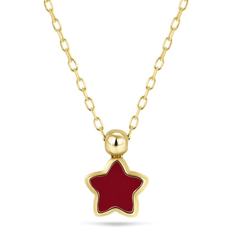 Geelgoud collier 8915