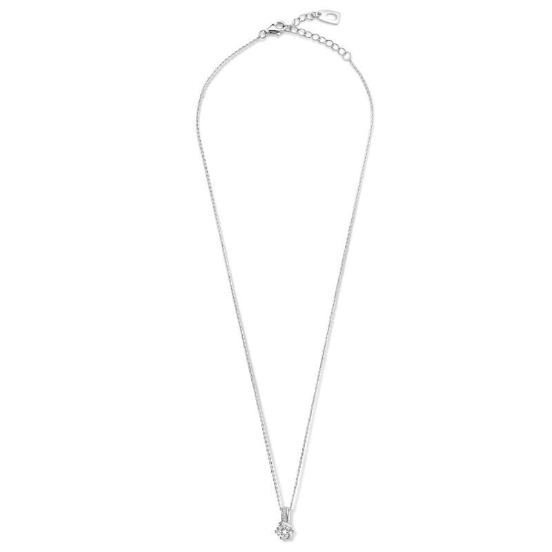 Zilver collier met zirkonia hanger SGN19303