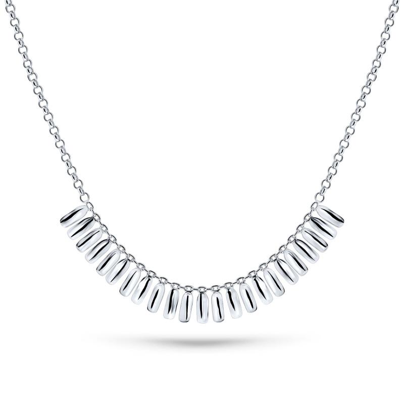 Zilveren collier ABCL029