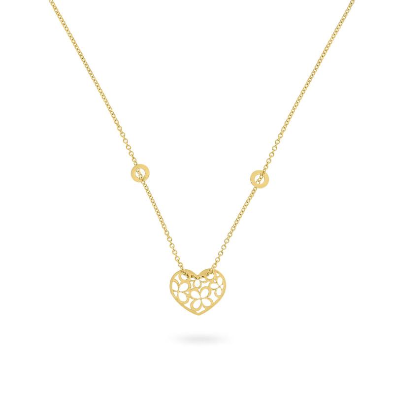 Geelgouden collier met hart FG083-300