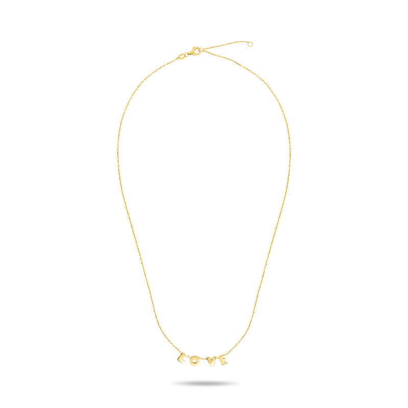 Geelgouden collier love