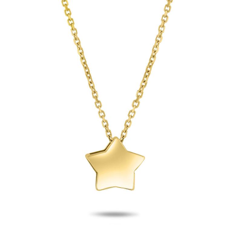 Geelgouden collier met ster