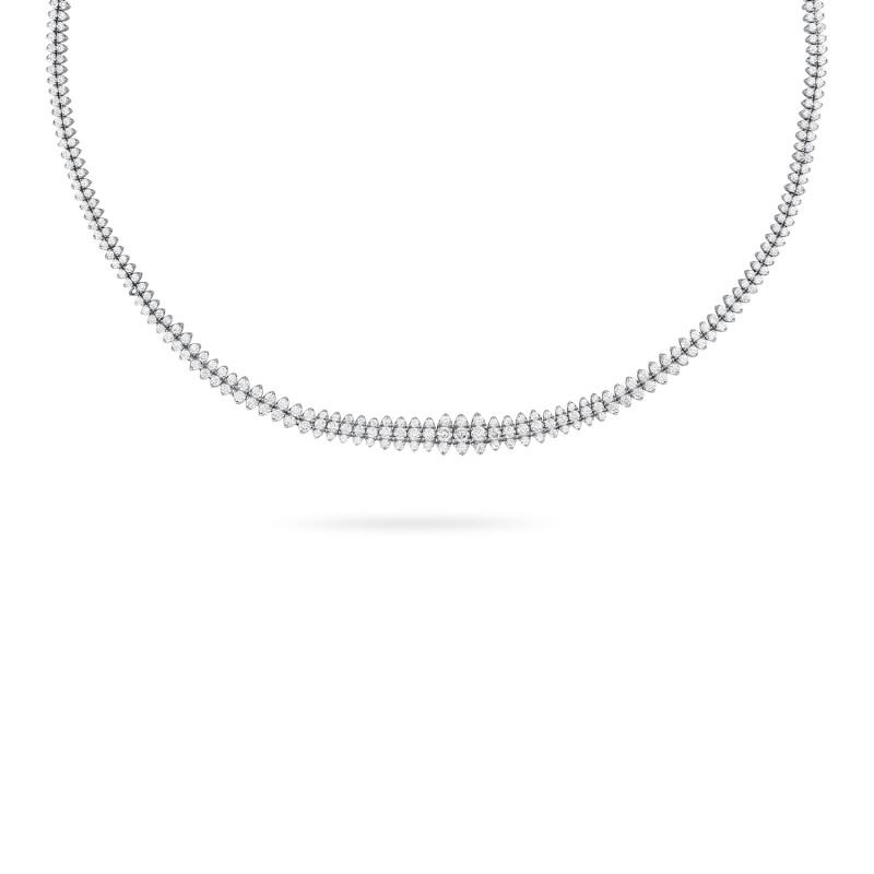Zilver collier gezet met zirkonia