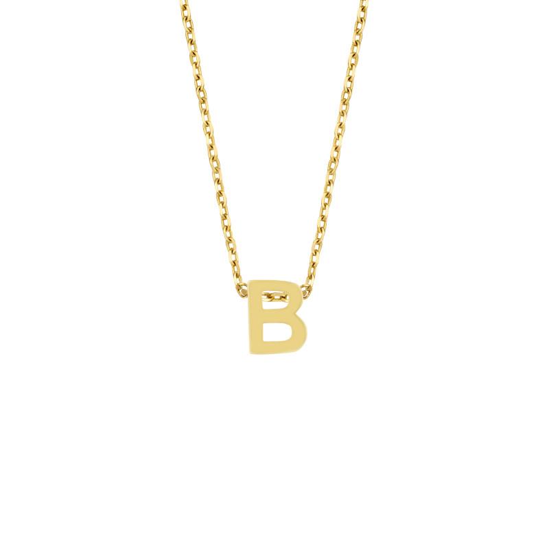 Geelgoud collier met de letter 'B'