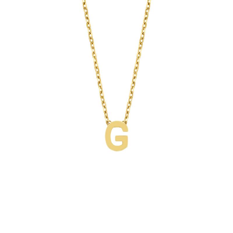 Geelgoud collier met de letter 'G'