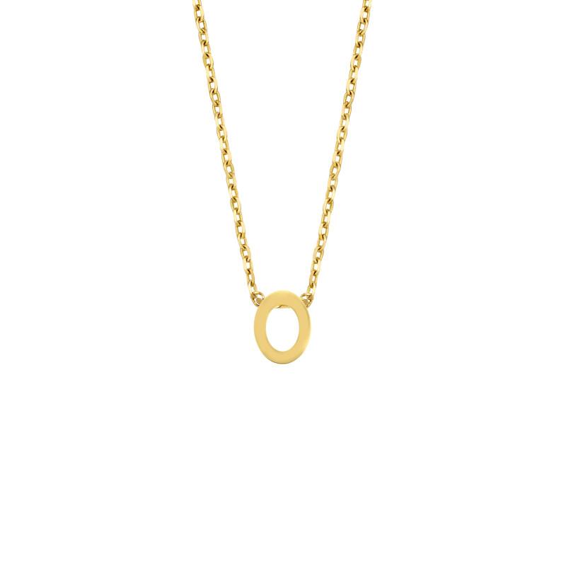 Geelgoud collier met de letter 'O'