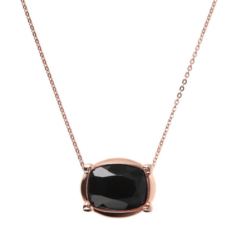 Rosé collier met onyx WSBZ01532