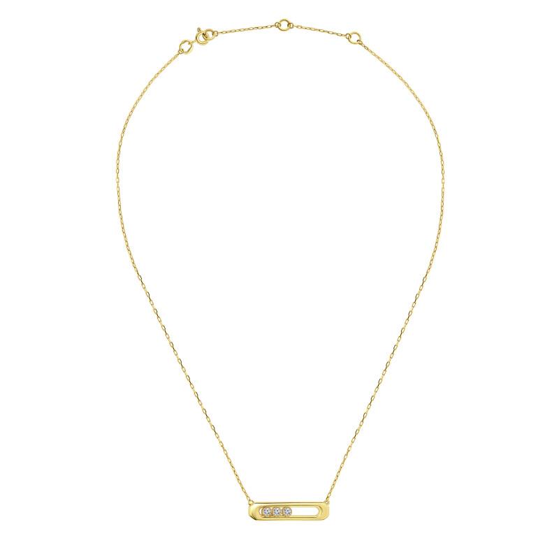 Geelgoud collier met zirkonia T90211591-ZI