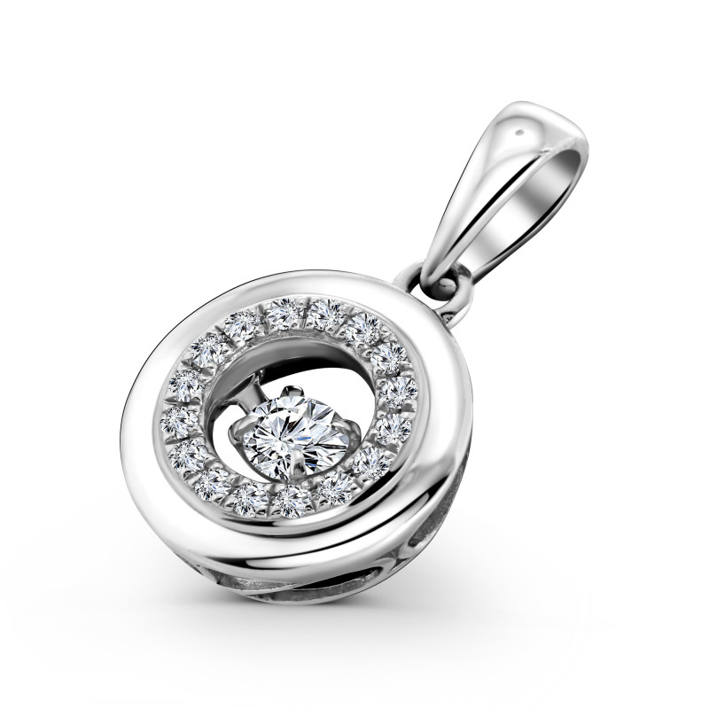 Witgouden diamant hanger 66721P026