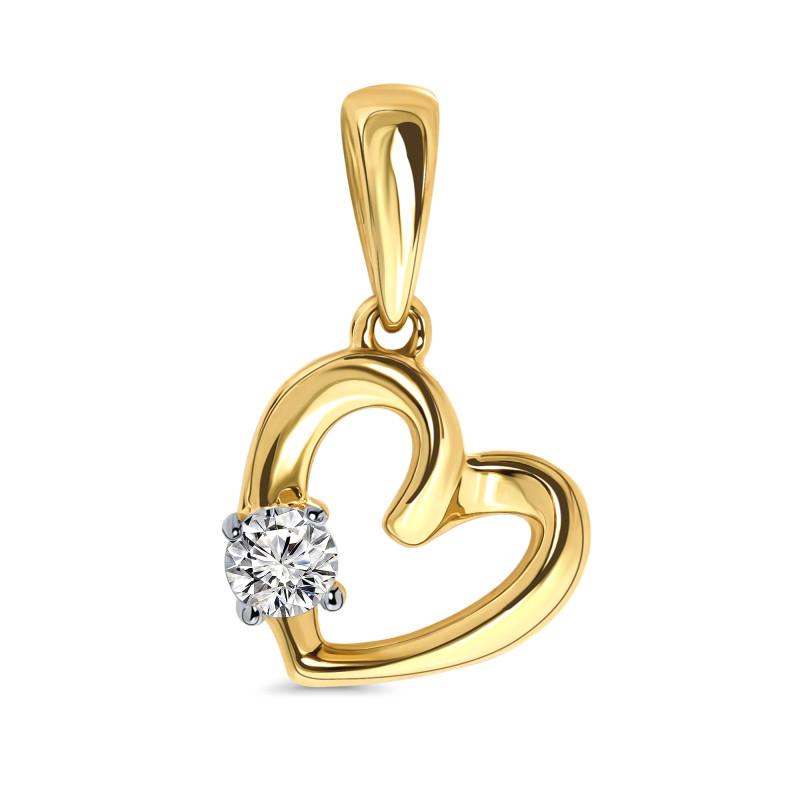 Geelgouden hart met zikronia 59878-Z-Y