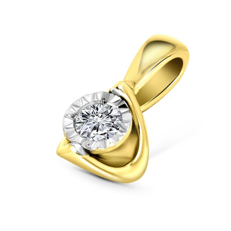 Geelgouden hanger met diamant SOL-Y623-005-G2