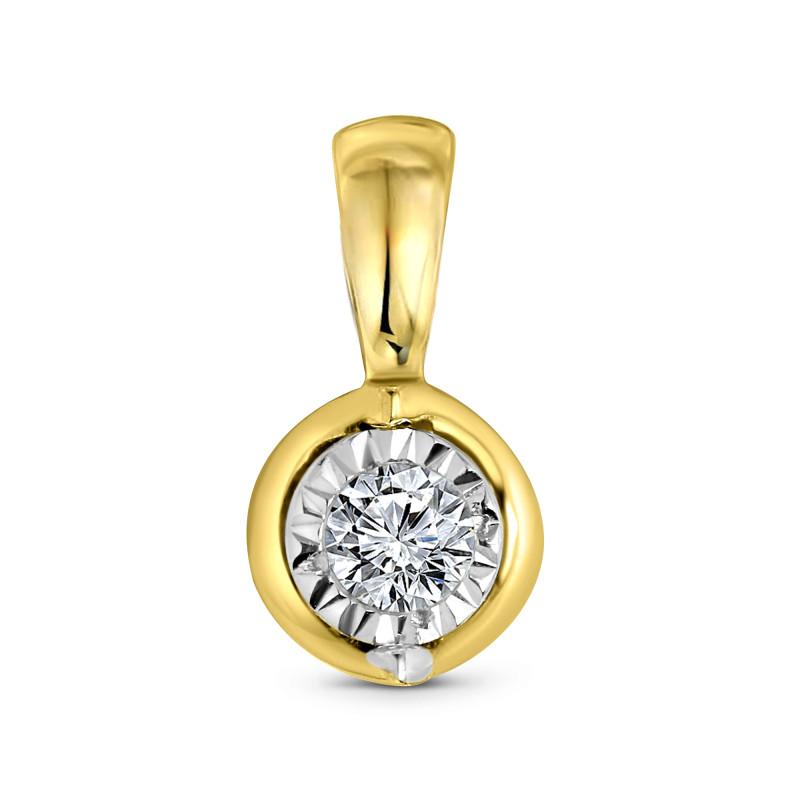Geelgouden hanger met diamant SOL-Y623-010-G2