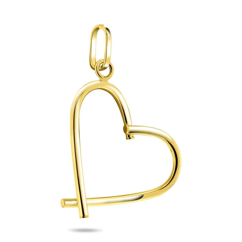 Geelgouden hanger hart