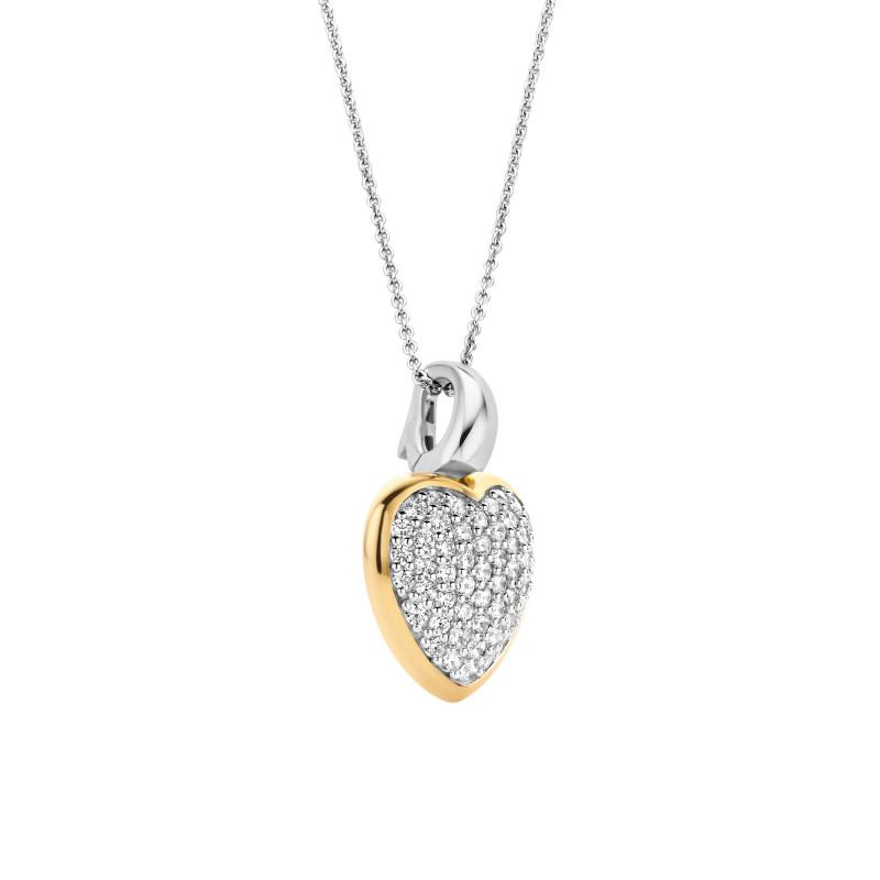 Gold plated hart met zirkonia 6801ZY