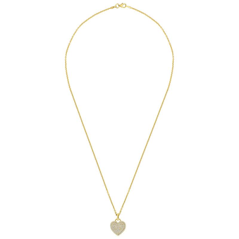 Gold plated hanger met zirkonia 05.026Z.35