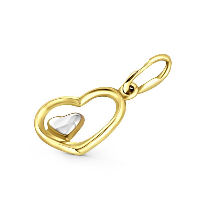 Geelgouden hart hanger T940033872