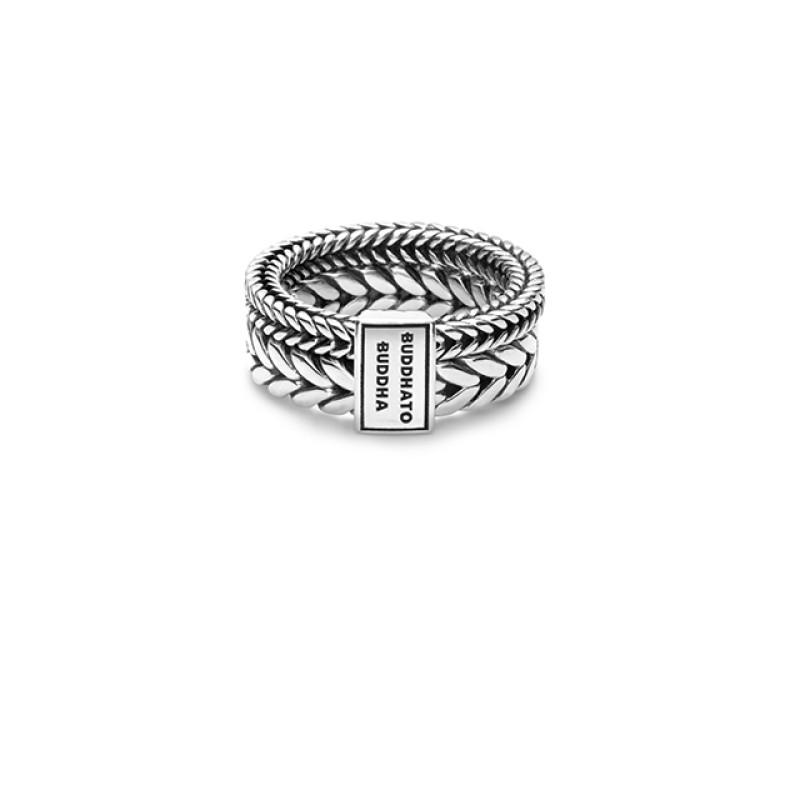 Barbara Double Ring Silver