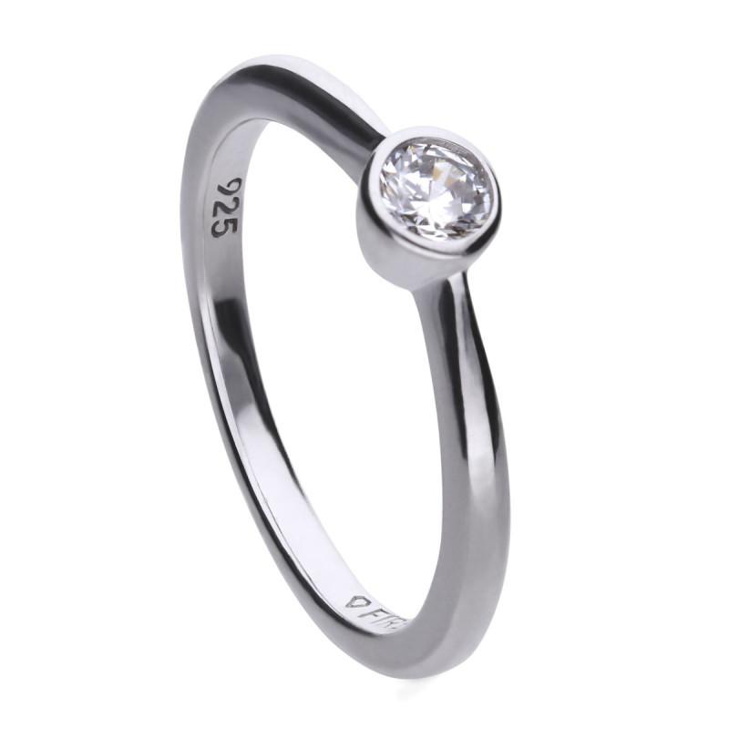 Zilveren solitaire ring 814.0040.175