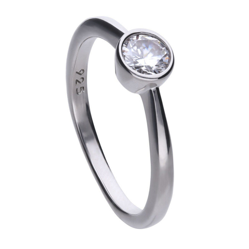 Zilveren solitaire ring 814.0041