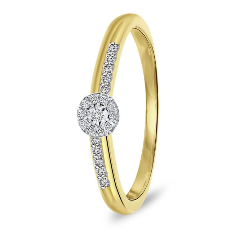 Geelgouden ring met diamant 46701R020