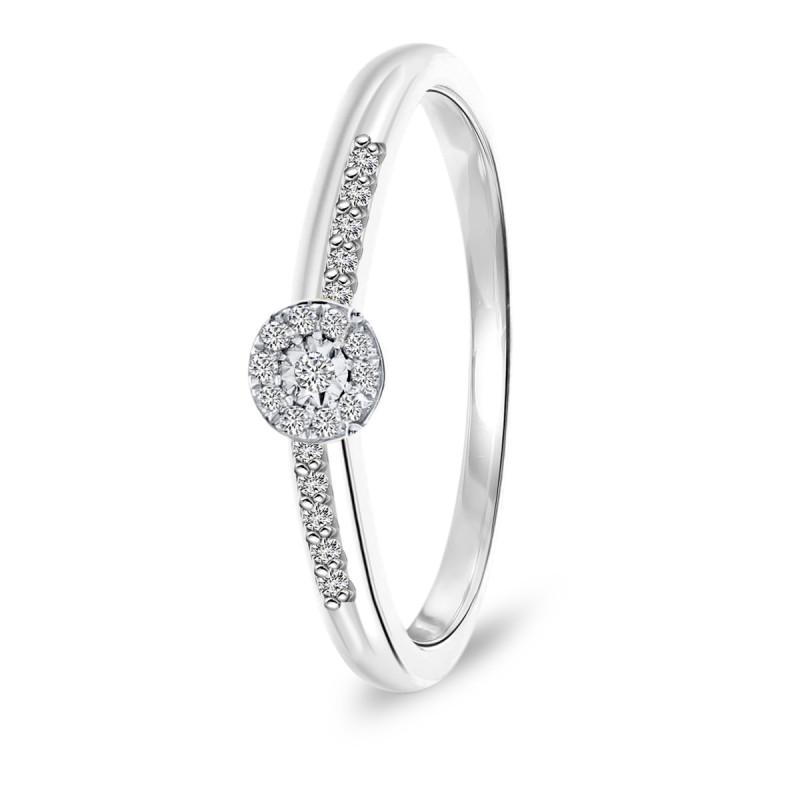 Witgouden ring met diamant 46701R021-W