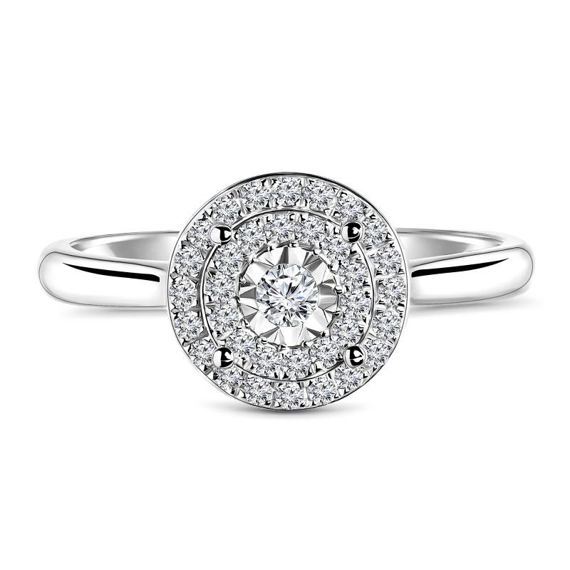 Witgouden ring met diamant 53529R033