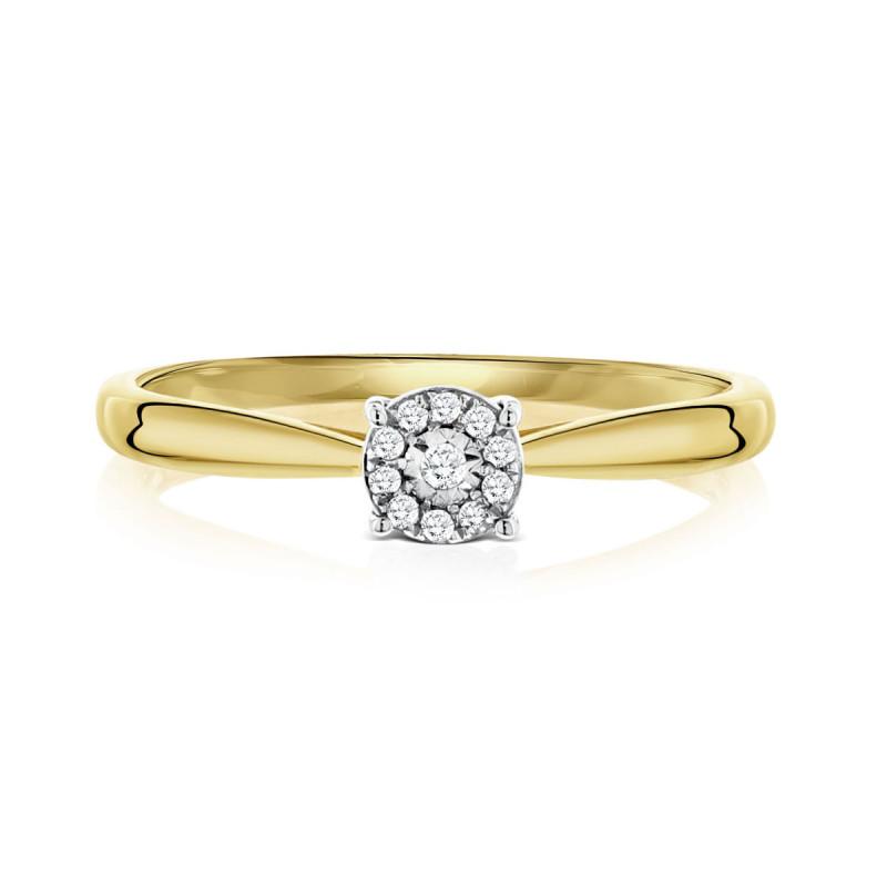 Geelgouden ring met diamant 53536R017-YW
