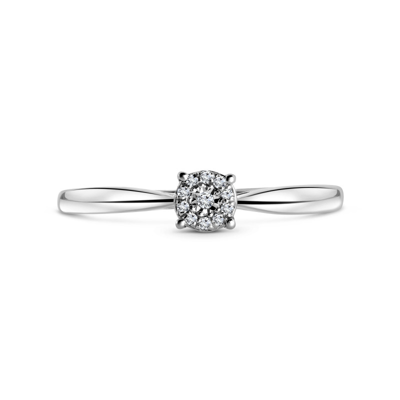 Witgouden ring met diamant 53536R053