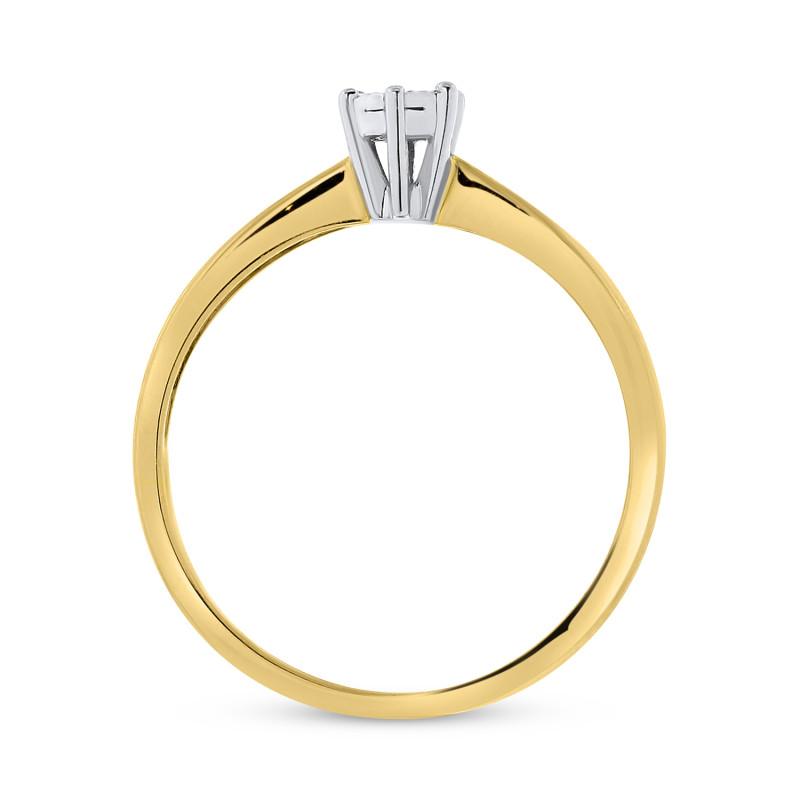 Geelgouden dames ring met diamant