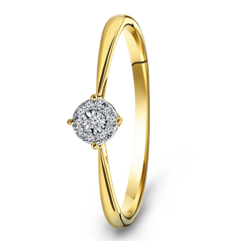 Geelgouden ring met diamant 55153R017-Y
