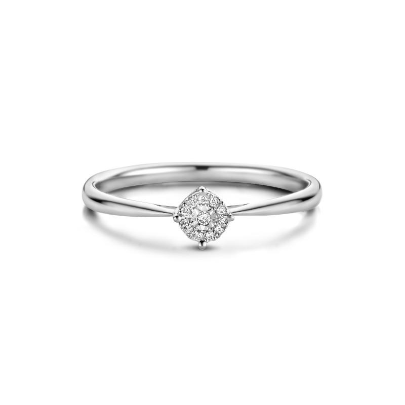 Witgouden ring met diamant 55153R018-W