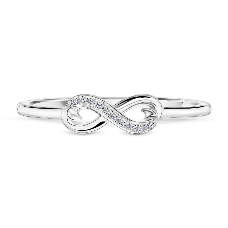 Witgouden ring met diamant infinity 60107R001