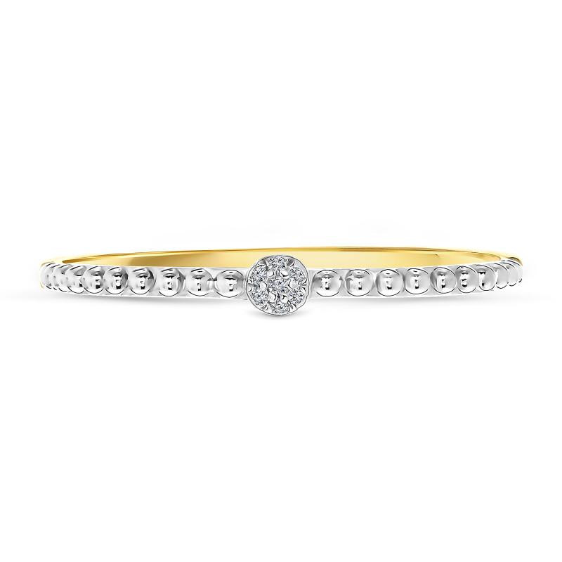 Geelgouden ring met diamant 60357R001